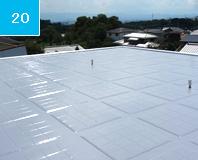 施工完了 この陸屋根は2階の部屋全体を覆っているので2階の室内温度は2-3℃かわる。