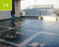 ガラスマットライニング完了 これで、表面はFRP防水層で一体化された。